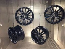 Four Black Alloys Drying in Oven